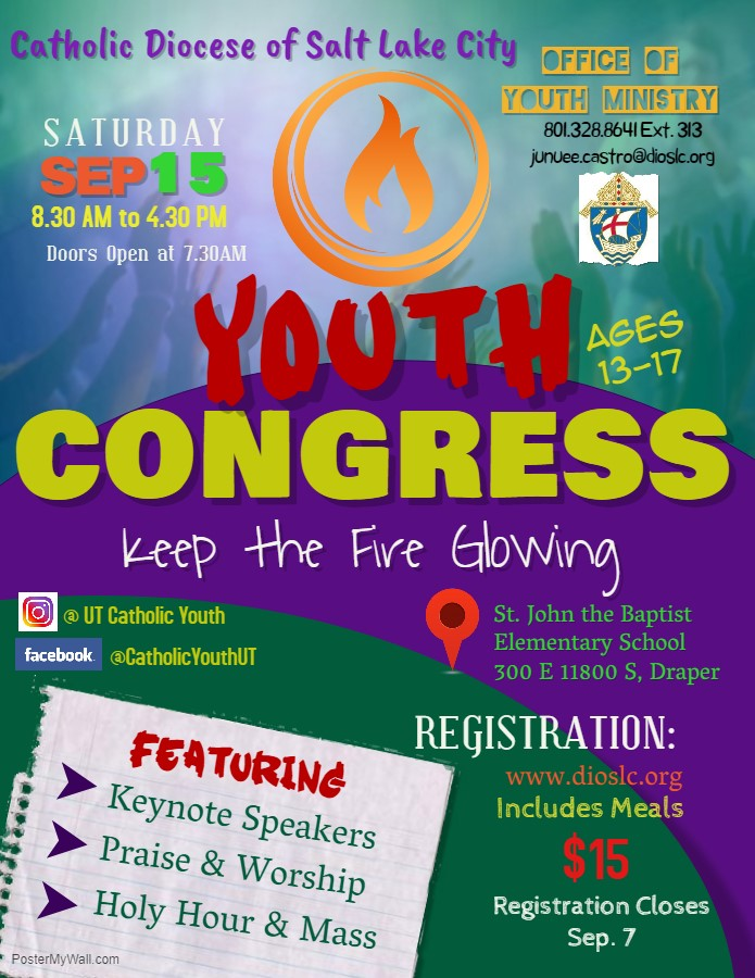 2018 Diocesan Youth Congress Flyer