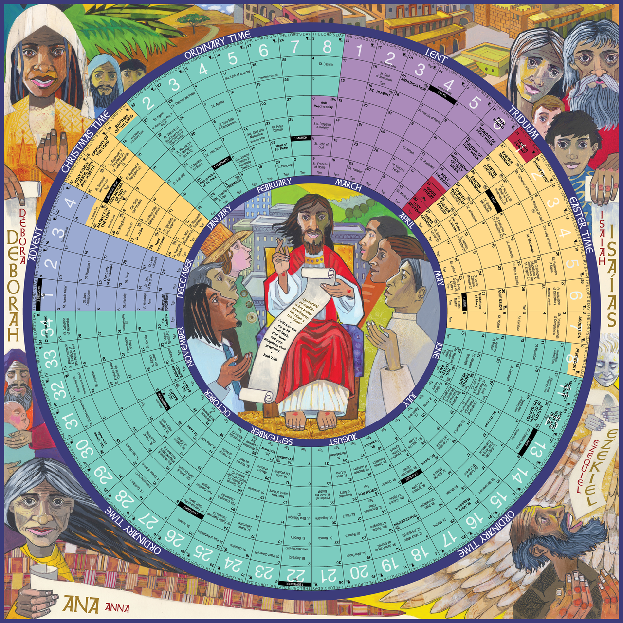 2019 Year of Grace Liturgical Calendar poster 24 by 24 inch sheet 9781616714062 YG19LP 97464.1532094333