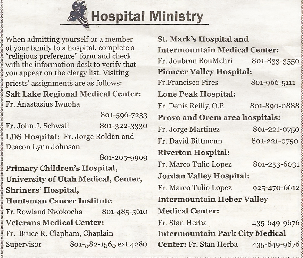 Hospital Ministry