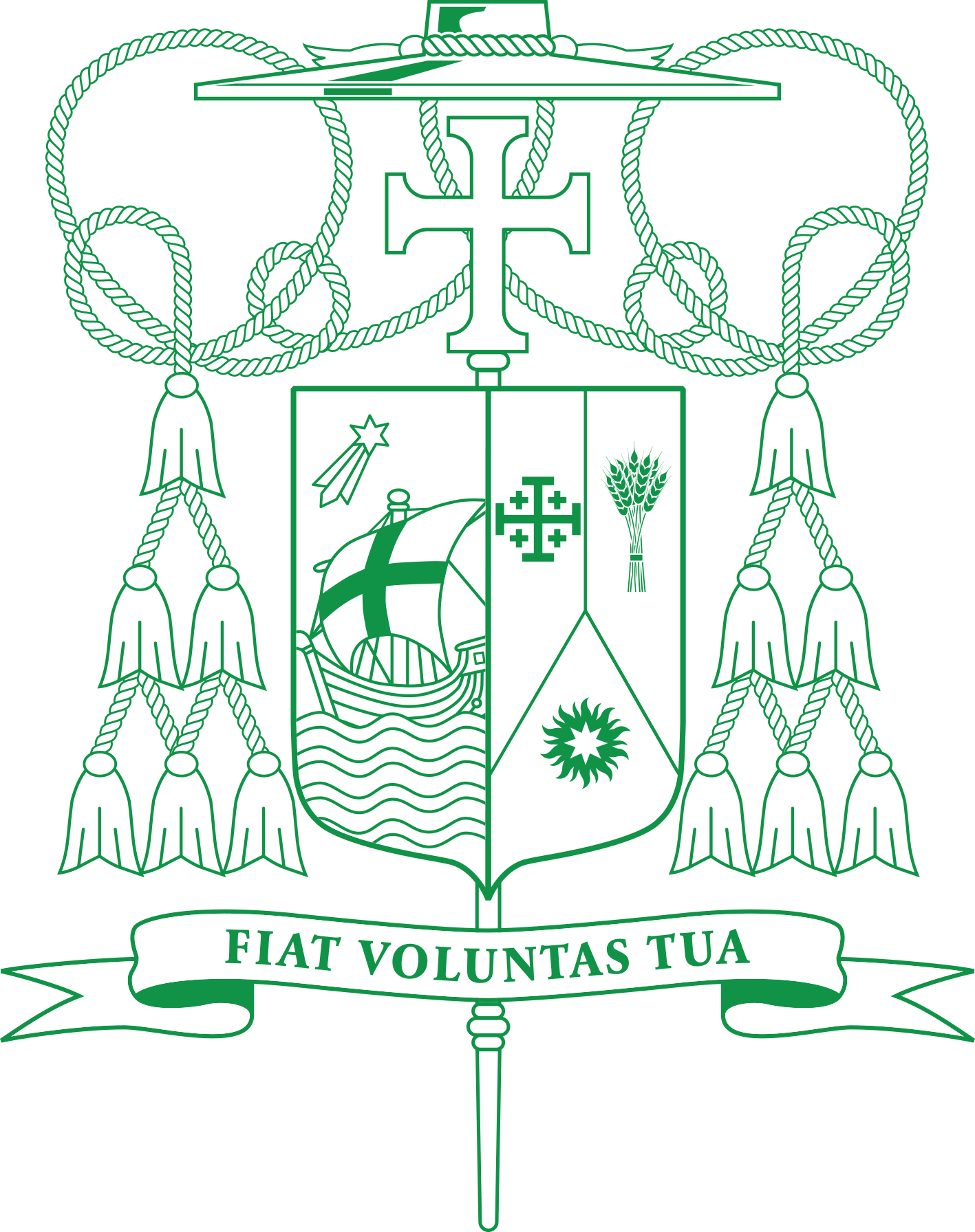 Bishop Solis Coat of Arms Green